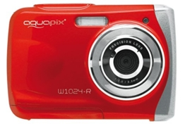 Aquapix W1024-R Splash Unterwasser Digitalkamera rot -
