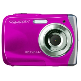 Easypix W1024 Splash Digitalkamera (10 Megapixel, 4-fach digitaler Zoom, 6,1 cm (2,4 Zoll) Display) pink -