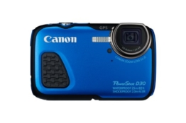 Canon PowerShot D30 Digitalkamera (12,1 Megapixel, 5-fach opt. Zoom, 7,5 cm (3 Zoll) LCD-Display, Full HD, GPS, wasserdicht bis 25m) blau -