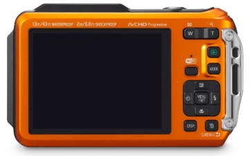 Panasonic DMC-FT5EG9-D Lumix Digitalkamera (7,5 cm (3 Zoll) LCD-Display MOS-Sensor, 16,1 Megapixel, 4,6-fach opt. Zoom, microHDMI, USB, bis 13m wasserdicht) orange -