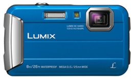 Panasonic LUMIX DMC-FT30EG-A Outdoor Kamera (16,1 Megapixel, 4x opt. Zoom, 2,6 Zoll LCD-Display, 220 MB interne Speicher, wasserdicht bis 8 m, USB) blau -