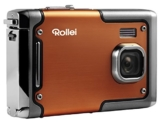 Rollei Sportsline 85 - Digitalkamera - 8 Megapixel - 1080p Full HD Videofunktion - wasserdicht bis zu 3 Metern - Orange -